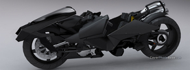 Sci Fi Bike Black, Free Facebook Timeline Profile Cover, Vehicles