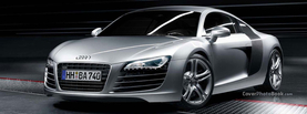 Silver Audi R8, Free Facebook Timeline Profile Cover, Vehicles