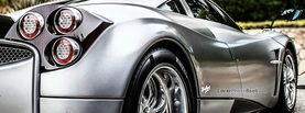 Silver Pagani Huayra Back, Free Facebook Timeline Profile Cover, Vehicles