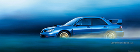 Subaru Impreza Blue Driving, Free Facebook Timeline Profile Cover, Vehicles