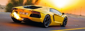 Yellow Lamborghini Fire Back, Free Facebook Timeline Profile Cover, Vehicles