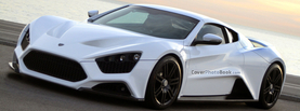 Zenvo ST1 White, Free Facebook Timeline Profile Cover, Vehicles