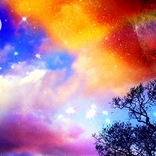 Space Paradise Facebook Cover - Abstract