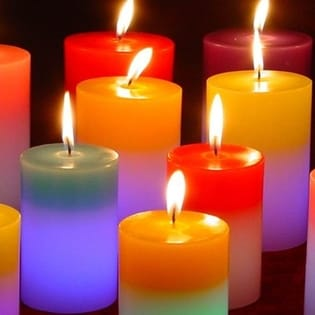 Colorful Candles Facebook Cover - Emotions