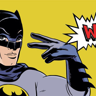 Batman Word Retro Facebook Cover - Funny | 315 x 315 jpeg 23kB
