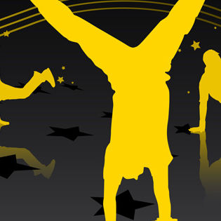 Streetdance Yellow Vector Facebook Cover - Hobbies