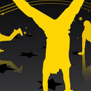 Streetdance Yellow Vector Facebook Cover - Hobbies