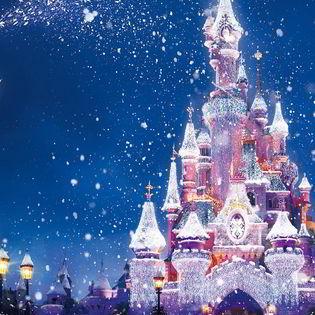 Beautiful Christmas Disney Castle Facebook Cover - Holidays