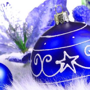 Blue Christmas Ornaments Facebook Cover - Holidays | 315 x 315 jpeg 32kB