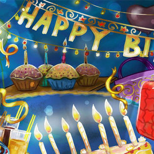 Cartoon Birthday Party Facebook Cover Holidays