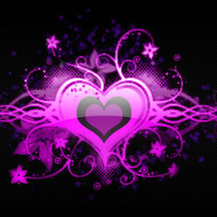 purple heart love floral facebook cover love