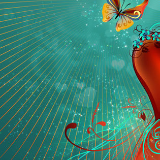 Valentines Heart Abstract Butterfly Facebook Cover Love