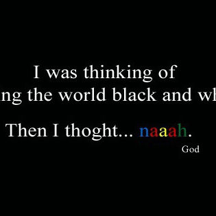 World Black White God Facebook Cover - Quotes