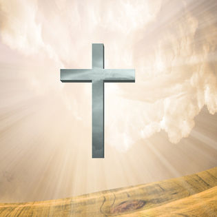 Christian Symbol Silver Cross Floating Landscape Facebook