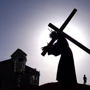 jesus christ carrying cross silhouette facebook cover