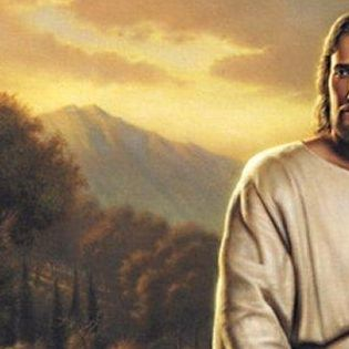 jesus christ sitting with staff river facebook cover